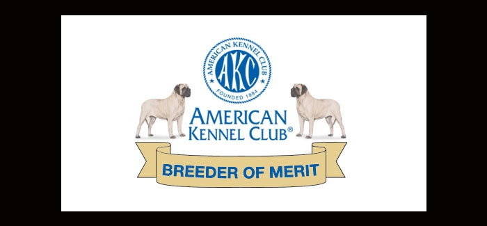 We are AKC Breeders of Merit!!